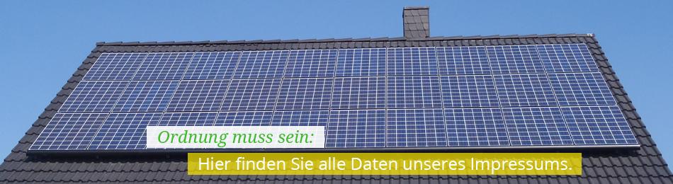 Impressum der Firma Solarenergie-Netzwerk.