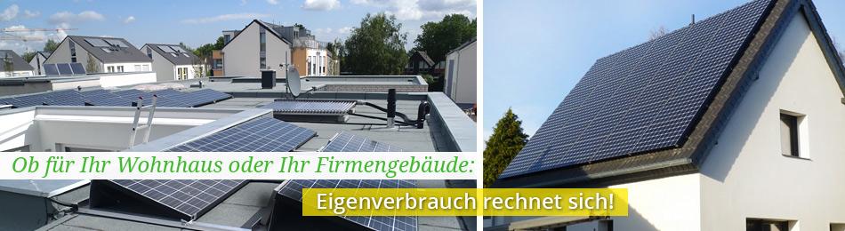 Schlüsselfertige Solaranlagen, denn Eigenverbrauch lohnt sich.