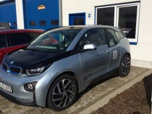 Probefahrt mit Elektroauto von BMW